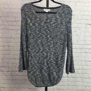 Christopher & Banks Long Sleeve V-Neck Sweater